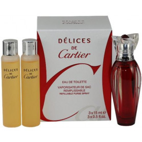 Cartier Delices de Cartier Eau de Toilette 3x 15 ml