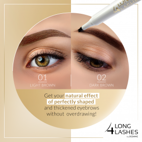 Long4Lashes Eye Care Precision Eyebrow Pen 02 Dark Brow 1,1 ml