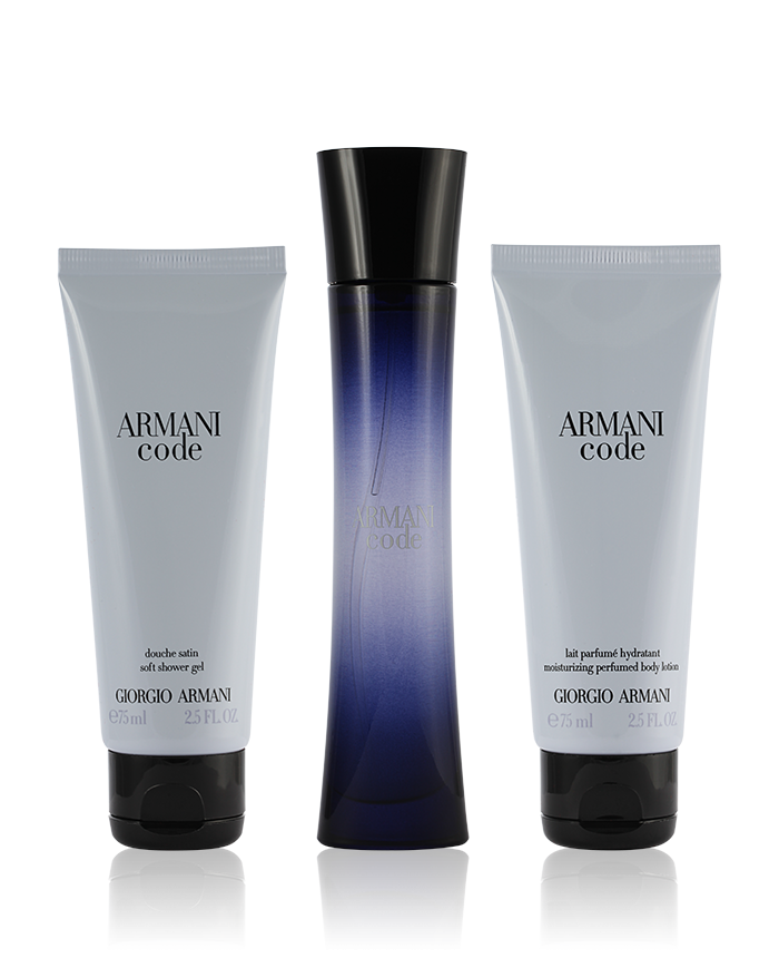 pre order new lifestyle reliable quality Giorgio Armani Code Pour Femme Eau de Parfum 50 ml + SG 75 ml + BL 75 ml Set