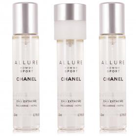 Chanel Allure Homme Sport Eau Extreme Nachfüllungen Eau de Parfum 3 x 20 ml
