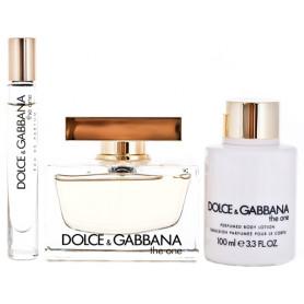 Dolce & Gabbana The One Eau de Parfum 75 ml + EdP 7,4 ml + BL 100 ml Set